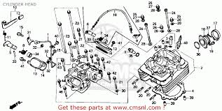honda trx350 fourtrax 4x4 1986 g usa cylinder head schematic