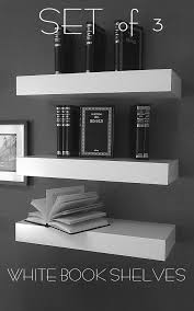 White Modern Bookshelves by 90 Long Floating White Shelves High Gloss White Finish Wall White