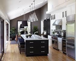 open kitchen design with island modern open kitchen design with large black island and true