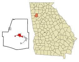 Metro Atlanta County Map by Dallas Georgia Wikipedia