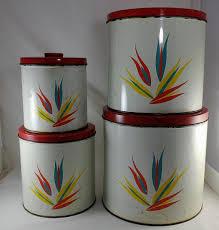 vintage kitchen canister set set of vintage kitchen canister tins pantry tin canister set tin