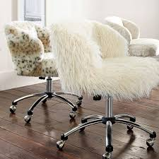 fur chair cover ivory furlicious wingback desk chair pbteen