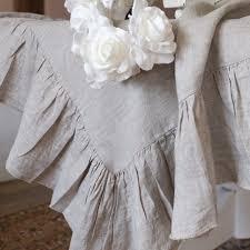 ruffled linen rectangle tablecloth large u2013 oscar u0026 french ltd