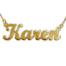 14k Gold Name Necklace 14k Gold Name Necklace Karen Style