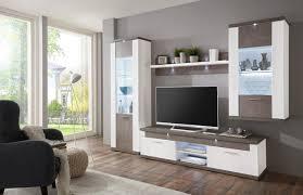 Wohnzimmerschrank Hochwertig Wohnwand In Grau Weiß Von Xora Wohnwände Pinterest