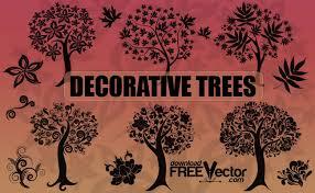 decorative trees free vector 123freevectors
