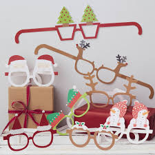 festive themed funglasses santa and friends by