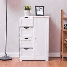 Bathroom Standing Cabinet Giantex Wooden 4 Drawer Bathroom Free Standing Cabinet