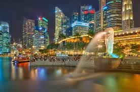 singapore lion colorful singapore the lion city at editorial photo image