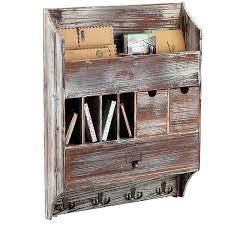 amazon com country rustic wall mounted wood coat rack entryway
