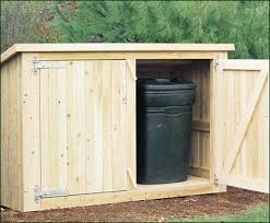 photo garbage can shed plans images small storage sheds idea