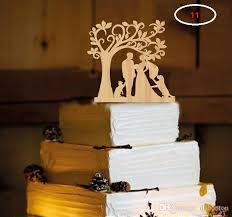 the wedding cake inserted card wood material wedding cake inserted