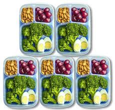 amazon com orgalif 3 comparment reusable plastic bento lunch box