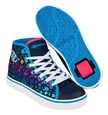 heelys light up shoes light up heelys heelys veloz girls high trainers blue denim multi
