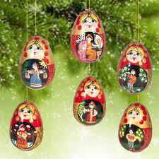 russian ornaments wooden ornaments russian