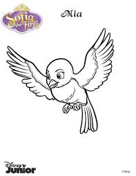 mia the blue bird coloring pages hellokids com
