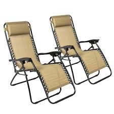 Zero Gravity Patio Chairs by Bestchoiceproducts Zero Gravity Chairs Case Of 2 Tan Lounge