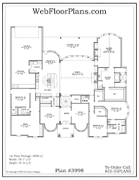 One Story 4 Bedroom House Plans by 6 4 Bedroom House Plans Single Story House Plans One Story Homes