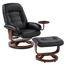Leather Swivel Club Chairs Southern Enterprises Leather Swivel Recliner With Ottoman Hayneedle