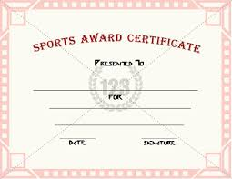 sports certificates templates free download football certificate
