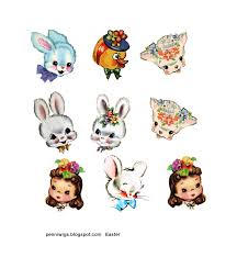 chenille easter penniwigs free graphics printables paper lore and more