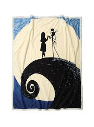 the nightmare before spiral hill throw blanket topic
