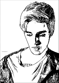 justin bieber coloring pages to print coloring page