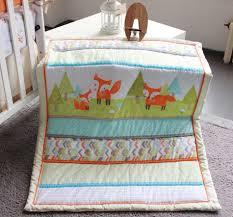 nursery cot bedding sets fox baby bedding sets cute on crib bedding sets and crib bedding