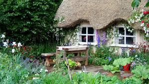 beautiful english flower garden decorating clear