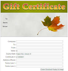 22 images of fall gift certificate template infovia net