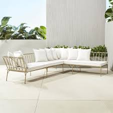 Outdoor Sofa With Chaise Unique Outdoor Furniture Modern Tables And Chairs Cb2