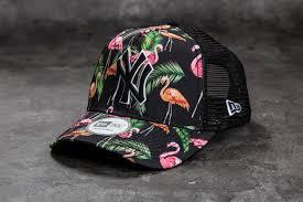 nw era new era adjustable tropical new york yankees trucker black pink
