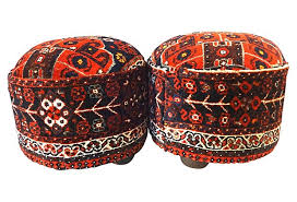 Ottoman Rug Antique Rug Ottomans A Pair Chairish