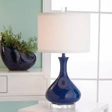 blue table lamps images with cool blue lampshades duck egg bedside