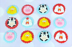 farm cake toppers 12 x edible farm animal cupcake toppers sweet party treats