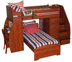 Ikea Bunk Bed With Desk Dressers Bunk Bed With Built In Desk And Drawers Bunk Bed Desk