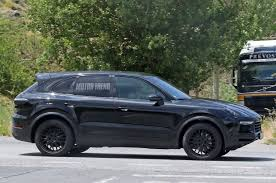 porsche suv blacked out spied next porsche cayenne goes weather testing in spain