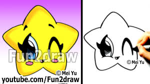 kawaii drawings how to draw a star easy and cute popular