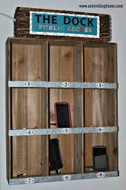 charging station shelf 27 diy charging station ideas to make more tidy cables cord