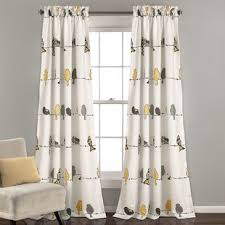 Curtains Printed Designs Bird Curtains Wayfair