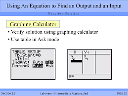 input output tables calculator function notation and making predictions section ppt download