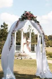 Wedding Arches Decorated With Tulle Custom Wedding Arch Decorated With Fabric Muslin U0026 Sparkly Tulle