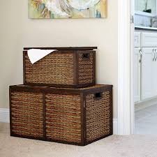 Wicker Storage Chest Of Drawers Carolina Cottage Camden Antique Ivory Trunk 4119 Ap The Home Depot