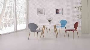 White Dining Table And Coloured Chairs Wooden White Dining Table And 4 Mixed Coloured Chairs
