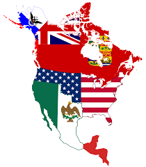United States American Flag File Flag Map Of Canada And United States American Png Inside