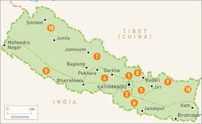 Nepal India Map by Map Of Nepal Nepal Regions Rough Guides
