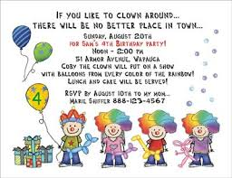 theme invitations clown theme personalized party invitations by the personal note