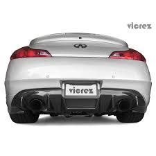 nissan 350z rear diffuser vicrez infiniti g37 sedan 2007 2013 vz style carbon rear diffuser