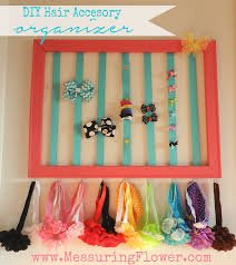 hair accessories organizer diy hair accessory organizer for baby and measuring