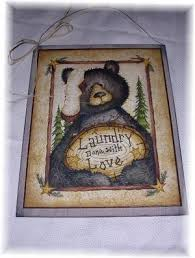 black bear laundry done with love lodge sign country decor bears